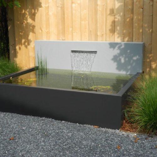 Bassin aluminium avec lame d'eau