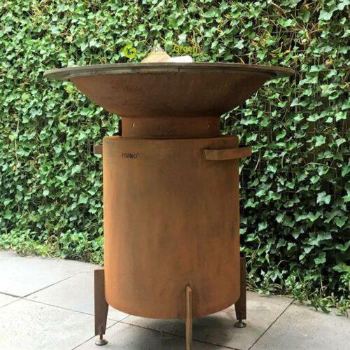 Barbecue Corten rond